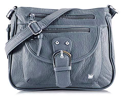 Purse King Pistol Concealed Carry Handbag (Slate Blue)