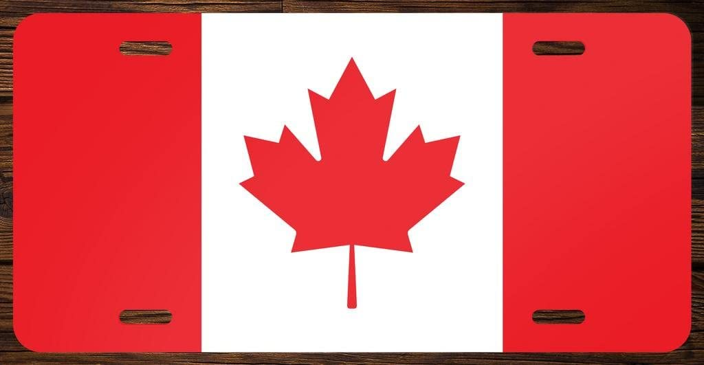 Canada Flag Canadian Vanity Front License Plate Tag Printed Full Color KCFP004