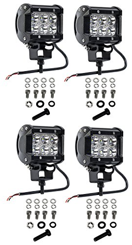 cutequeen 4 x 18w 1800 lumens cree led spot light for off