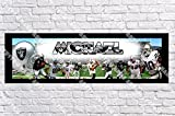 Personalized Oakland Raiders Banner - Includes Color Border Mat, With Your Name On It, Party Door Poster, Room Art Decoration - Customize