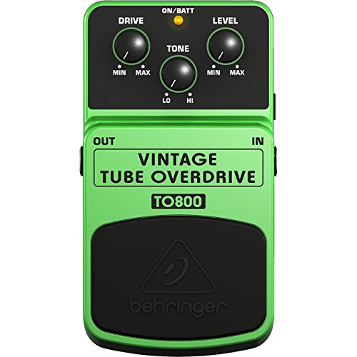 Distortion Pedal Effects Tube Guitar (BEHRINGER VINTAGE TUBE OVERDRIVE TO800)