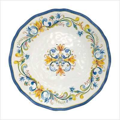 (Le Cadeaux Floral Harvest - Melamine Dinner Plate - Set of 4 )