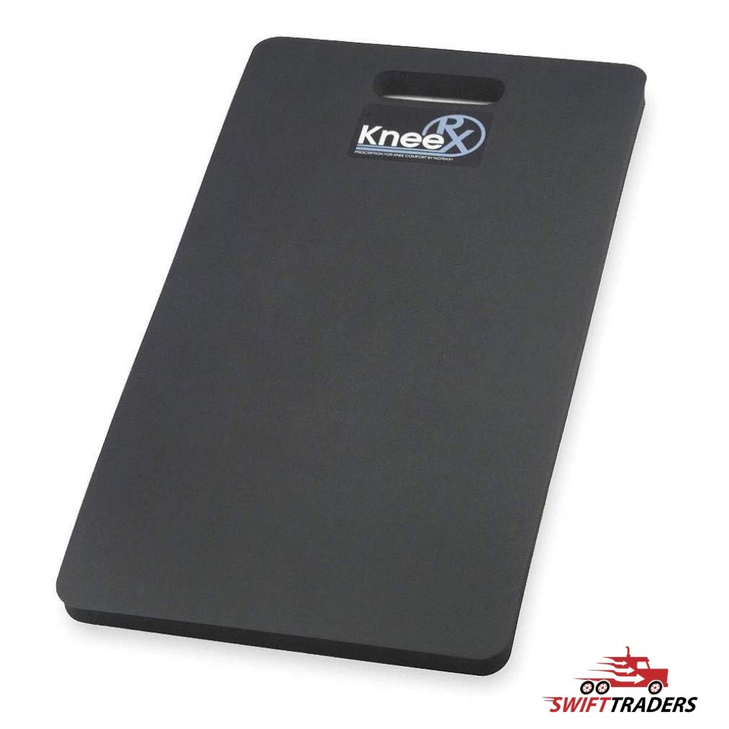 2-Pack Heavy-Duty Kneeling Pads, 22'' L x 12'' W, Black, Perfect for Kneeling On Gravel, Asphalt, Concrete, Dirt, Oily Surfaces, or Grass - With General Purpose Gloves Bundle