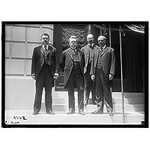 1ST PAN AMERICAN FINANCIAL CONFERENCE, WASHINGTON, D.C., MAY 1915. PEDRO COSIO; CARLOS DE PENA; JOSE RICHLING; GABRIEL TERRA. URUGUAY