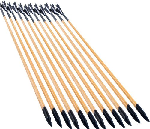 UPC 500912004566, NuoYa001 X12 Striped feather target archery Decorative wooden arrows F Bald bow