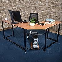 Modern L-Shaped Desk Corner Computer Desk PC Laptop Study Table Workstation Home Office Furniture Wood & Metal