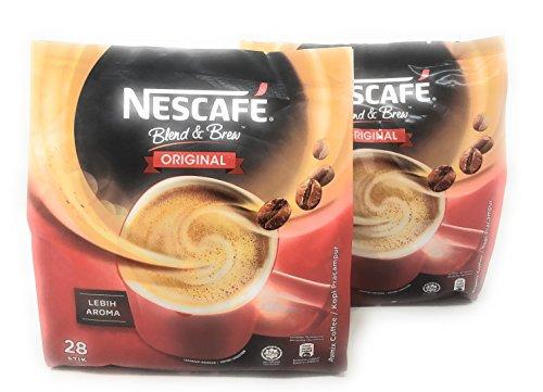 2 Packs Nescafé 3-in-1 ORIGINAL Premix Instant Coffee Single Serve Packets Total 56 Sticks (Best 3 In 1 Coffee Philippines)