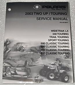 2003 polaris two up touring snowmobile service manual (500 600 700 Polaris 90 Wiring Diagram 2003 polaris two up touring snowmobile service manual (500 600 700 800 classic touring, sport \u0026 trail touring) paperback \u2013 2002
