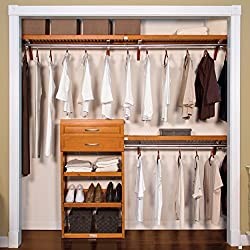 "Woodcrest Jlh-583 Closet System, 12"" deep, Carmel Finish, Piece"