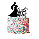 P Lab Bridal Shower I Do Crew Bridal Shower Cake Topper 2 Acrylic Decoration for Special Event Black