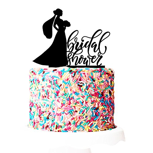 P Lab Bridal Shower I Do Crew Bridal Shower Cake Topper 2 Acrylic Decoration for Special Event Black by Personalization Lab
