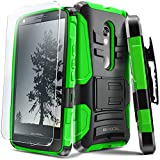 Evocel® DROID MAXX 2 Case [Generation Series] Rugged Holster [Kickstand & Belt Swivel Clip] + HD Screen Protector For DROID Maxx 2 XT1565/ Moto X Play (2015 Release), Green (EVO-MOTXT1565-AB212)
