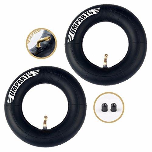 """(Set of 2) 200 x 50 Inner tube (8""""x 2"""") Innertube with angled stem for 8"""" wheel tire Razor Crazy Cart"""