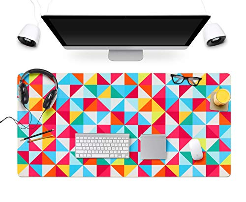 Gaming Mouse Pad Large Extended Mouse Pad Keyboard pad Laptop Mat Computer Game Mouse MatSensitivity Resistant Anti Slip Rubber Precise Stitched Edges Large Desk Mat (31.5×15.75×0.12)