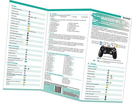 Madden NFL 15 - Die komplette Spielsteuerung groß auf einen Blick!: Version für PS3 und PS4 (Wo&Wie / Die schnelle Hilfe)