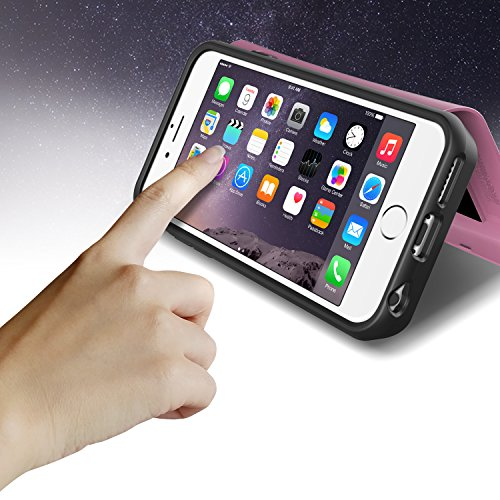 Verus Damda Veil harte Schutzhülle mit Kickstandfunktion, eingebautem Spiegel und Kartenhalter für Apple iPhone 6 Plus Special Pink