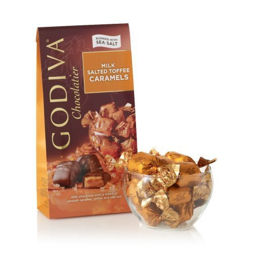GODIVA Chocolatier Milk Chocolate Salted Toffee Caramels