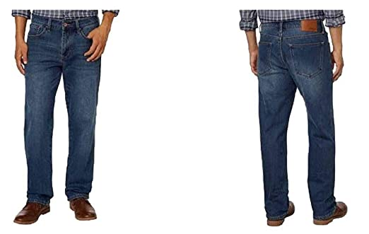 a7b2d971 Weatherproof Vintage 1948 Fleece-Lined Jeans Classic Straight Leg at Amazon  Men's Clothing store: