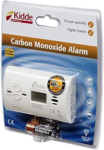 1 Kidde 7/COC D/étecteur de monoxyde de carbone alarme affichage num/érique marque certifi/é