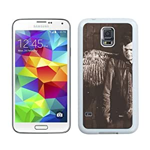 High Quality Samsung Galaxy S5 I9600 Case ,Cool And Fantastic Designed Case With Daryl Dixon White Samsung Galaxy S5 I9600 Cover