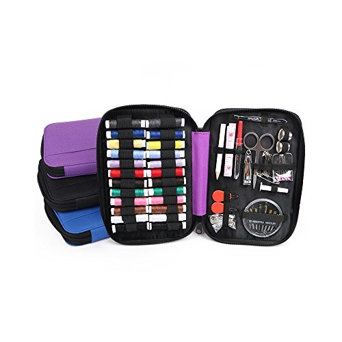 kunli SEWING KIT for The Whole Family Equipped with the Most Useful & Practical SEWING ACCESSORIES/ Home, Office, Travel, Beginners PREMIUM SEWING SUPPLIES for Mending & Sewing Needs