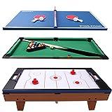 3 in 1 Air Hockey Ping Pong Billiard