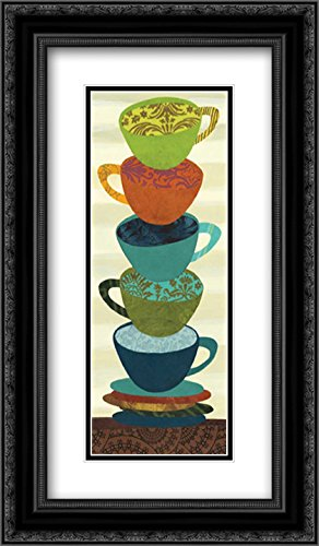 Stacking Cups I 2x Matted 14x24 Black Ornate Framed Art Print by Lee, Jeni