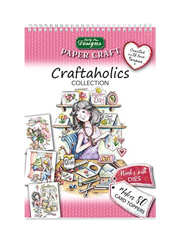 Craftaholics Paper Craft Pads, Card Making Kit, Makes 80 Card Toppers, Works with Dies