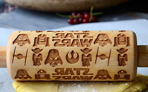 Rolling Pin engraved Sugar Cookies Star Wars gifts idea Darth Vader Mask Cookie - By Enjoy The Wood - Gift for Her Mother's Gift Anniversary present Kids Grandma