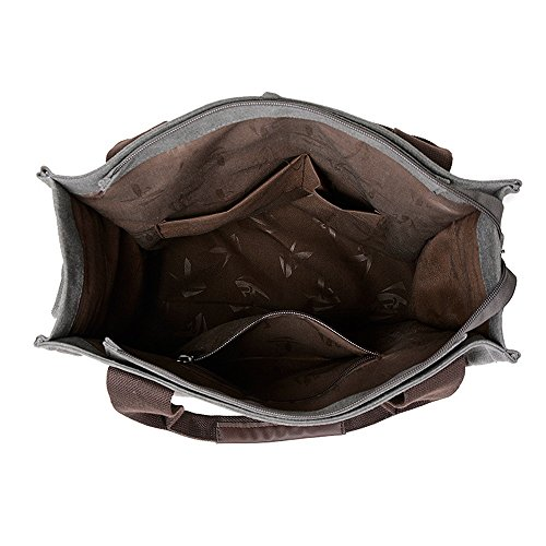 Brown Canvas Suitable Asdflina Box Vintage Casual capacity Use Large Solid Everyday Handbag For Color Large Capacity qzqr8nwaP