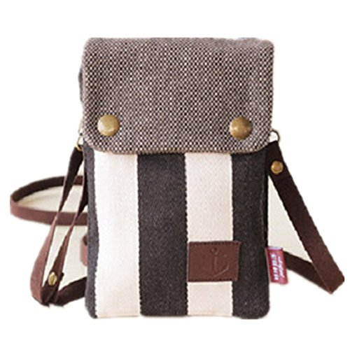 YaJaMa Canvas Women Shoulder Crossbody Bag Purse Cellphone Pouch - G-flex Canvas