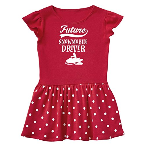 inktastic Future Snowmobile Infant Dress 6 Months Red and Polka Dot - Red Snowmobiles