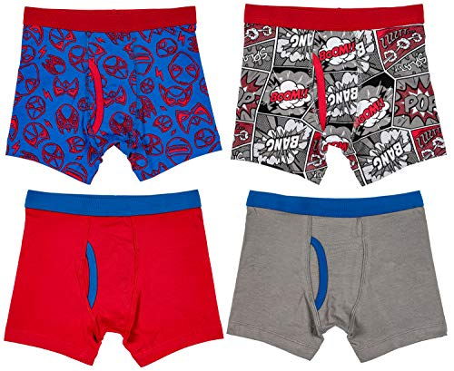 Trimfit 4-Pack Boys Boxer Briefs (Pack of 4), Heart of Hero, X-Small / 2-4