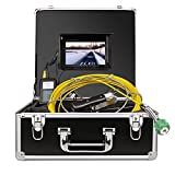 Sewer Camera, Pipe Pipeline Inspection Waterproof IP68 Endoscope HD 1000TVL Industrial Plumbing Snake Sony CCD Camera with 7-inch LCD Color Monitor (SY3800-30M) (Tamaño: SY3800-30M)