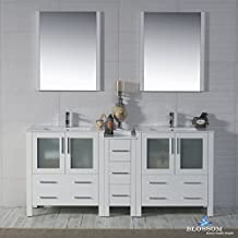 "BLOSSOM 001-72-01-D Sydney 72"" Double Vanity Set with Mirrors Glossy White"