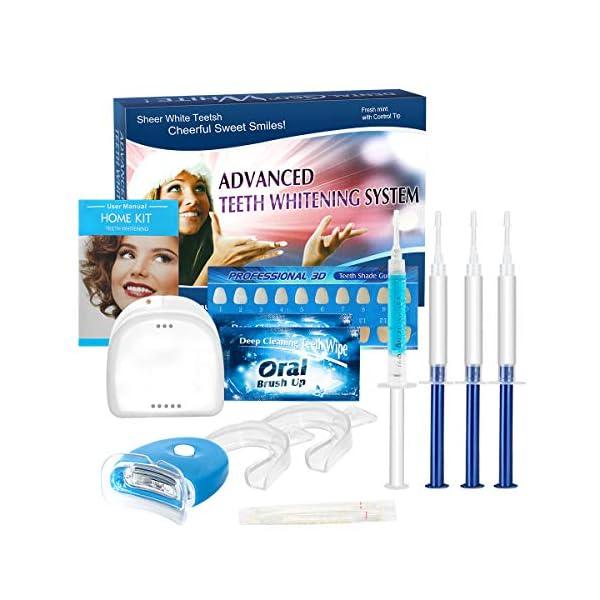 Kit de Blanqueamiento de Dientes, iFanze Blanqueador Dental Profesional, dientes blancos, dientes blancos white, dientes blancos led, dientes blancos luz, reducir manchas dientes 3