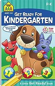 School Zone - Get Ready for Kindergarten Workbook - Ages 3 to 6, Preschool to Kindergarten, Letters, Numbers,