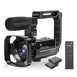 Flashandfocus.com 51olspEZfmL._SS300_ Camcorder Video Camera 2.7K Ultra HD YouTube Vlogging Camera 36M 30FPS 16X Digital Zoom Camcorder 3.0 Inch 270…