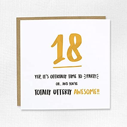 Outstanding Happy 18Th Birthday Greeting Card Awesome 18 Eighteen Son Funny Birthday Cards Online Fluifree Goldxyz