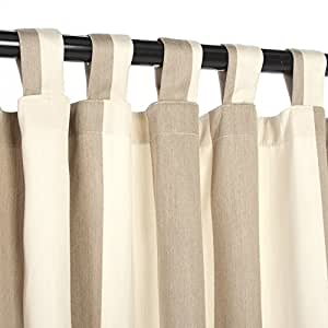 Outdoor Curtains CUR96SDS 54 in. x 96 in. Sunbrella Outdoor Curtain with Tabs - Regency Sand
