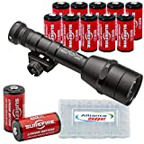 Surefire M600IB Scout Light Auto Adjusting IntelliBeam LED WeaponLight with 12 Extra Surefire CR123A Batteries and 3 Alliance Gadget Battery Cases