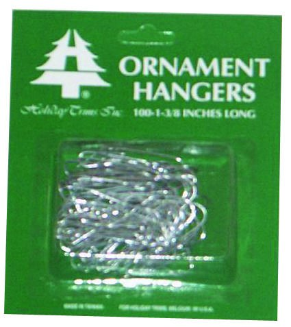 Holiday Trim 3926000 Ornament Hooks, Silver, 100-Ct. - Quantity 72 by Holiday Trim