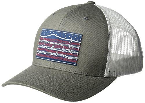 Columbia Men's Mesh Snap Back Hat, Titanium Stars/Stripes, O/S (Stripes Stars Caps)