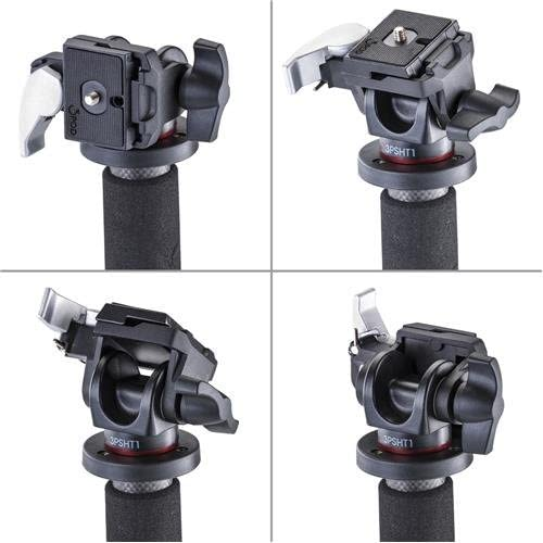 3Pod Orbit 4-Section Carbon Fiber Handheld Monopod Stick for DSLR Photo /& Video,Sports Cameras Fluid Base 65 Tripod Legs /& Bag Tilt Head with Quick Release
