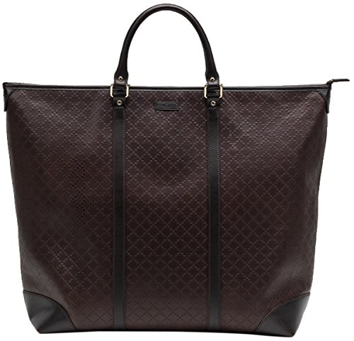 Gucci-Brown-GG-Diamante-100-Leather-Zip-Large-Top-Handle-Tote-Bag