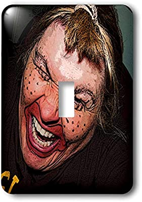 3drose Lsp 49539 1 Lady Dressed Up Like Ugly Clown For Halloween With Her Face Very Animated Silly And Scary Toggle Switch Amazon Sg Home Improvement