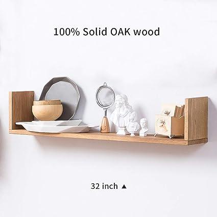info for e6cd3 ea2e5 INMAN HOME Wooden Wall Shelves,1PCS Oak U Shaped Rustic Floating Shelves  Hanging Bookshelf CD DVD Rack Display Decoration Wall mounted Picture Ledge  ...