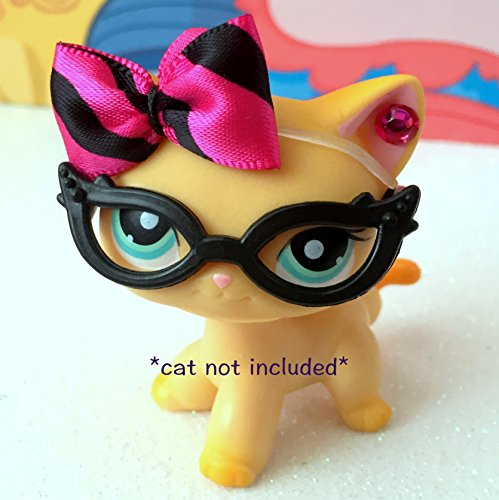 littlest-pet-shop-lps-bow-glasses-accessories-lot-cat-not-included
