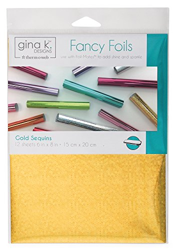Gina K. Designs for Therm O Web 18037 Fancy Foils 6 x 8 Sheets Gold Sequins