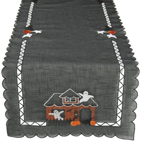 Xia Home Fashions Embroidered Halloween